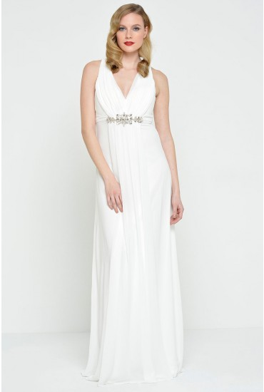 Lou V Neck Embellished Wedding Dress
