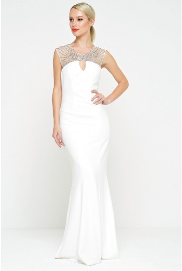 Poppy Embellished Neckline Wedding Dress