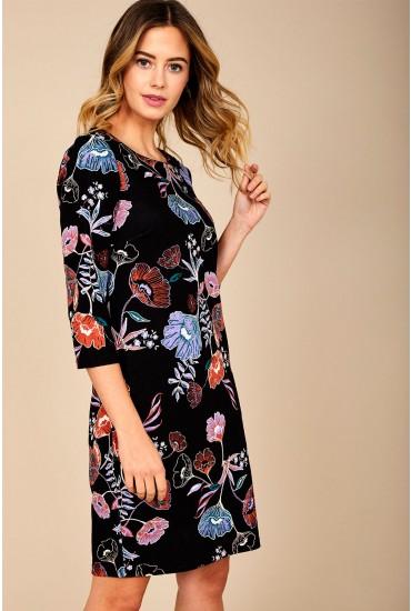 Tinny New Dress in Black Floral Print