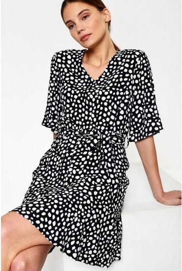 Stone Dress in Black Polka Dot