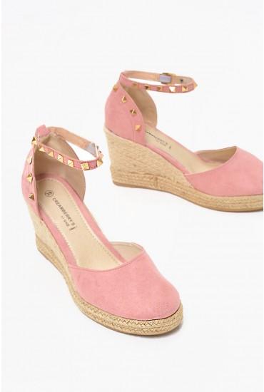 Tori Wedge Espadrille in Pink