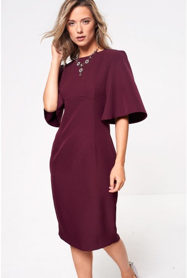 Emma Midi Dress in Plum