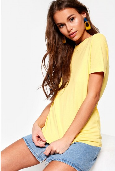 Classic Short Sleeve T-Shirt in Yellow