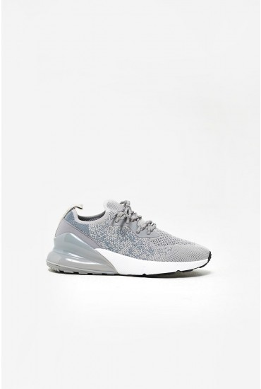 Kayla Knitted Trainers in Grey