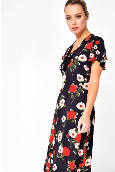 Enora Floral Tea Dress