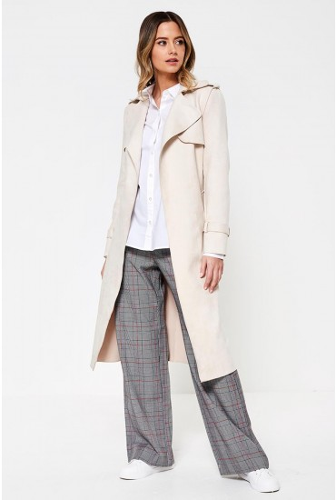 Fiona Long Coat in Ivory