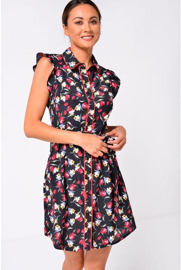 Anne Belted Floral Dress