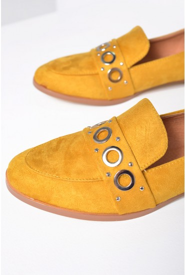 Youssef Suede Loafers in Mustard
