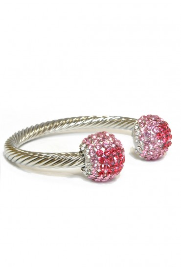 Whitney Pink Torc Bangle