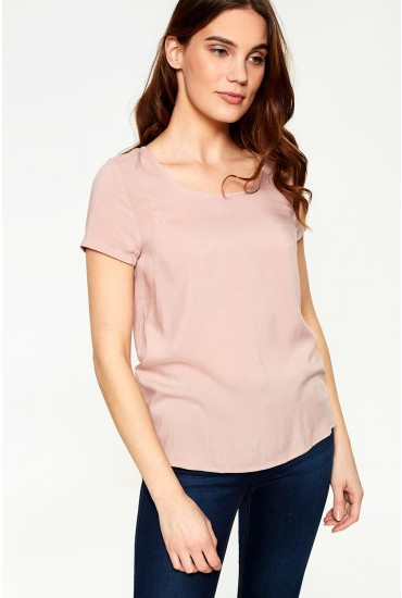 First Short Sleeve Top in Blush