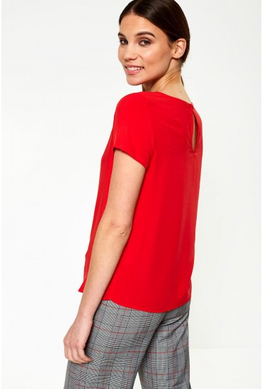 First Short Sleeve Top in Red