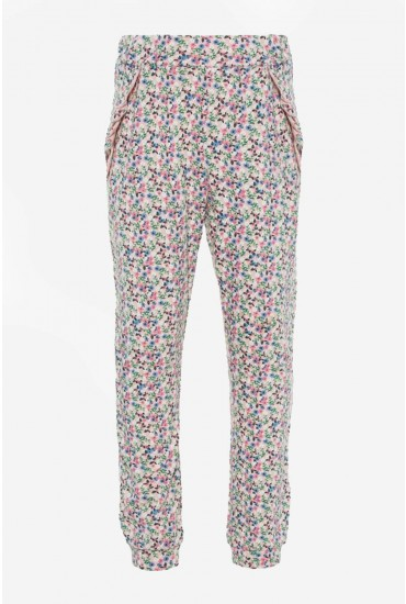 Flower Girls Leggings in Pink