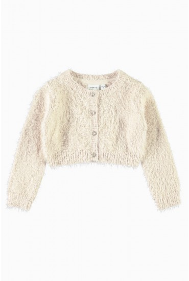 Franella Girls Knit Bolero in Cream