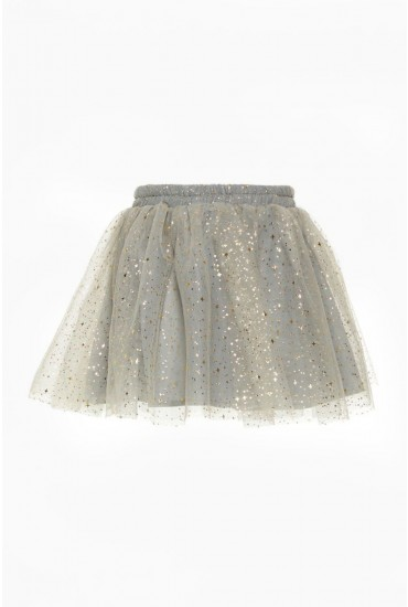 Franita Girls Tulle Skirt in Grey