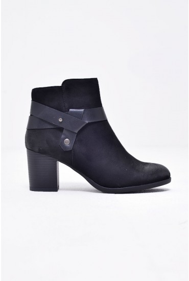 Nadin Suede Ankle Boot in Black