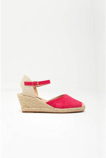 Jira Espadrille Wedges in Fuchsia