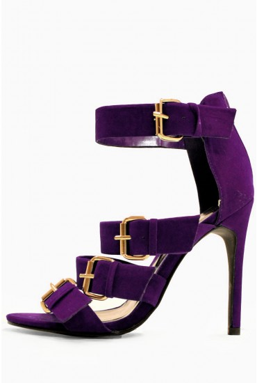 Gail Buckled Sandals in Purple