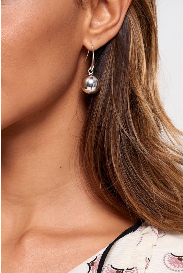 Lou Ball Drop Earrings in Silver