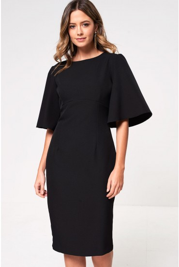 Emma Midi Dress in Black