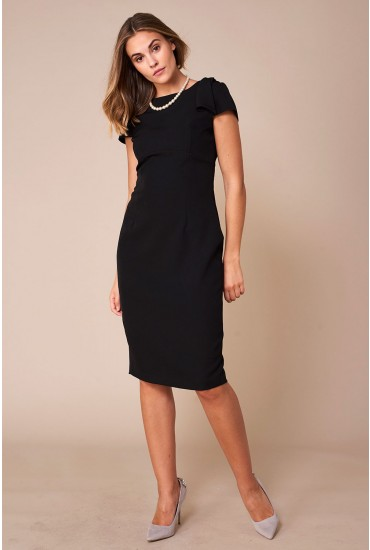 Levi Occasion Midi Dress in Black