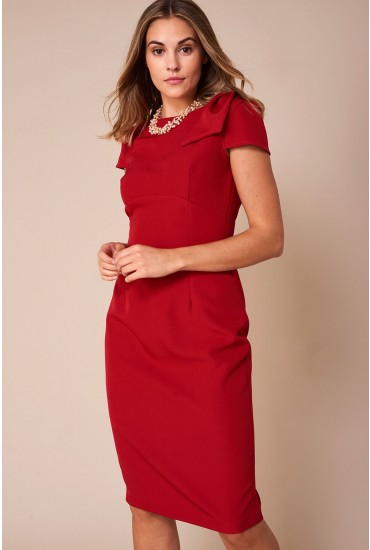 Levi Occasion Midi Dress in Red