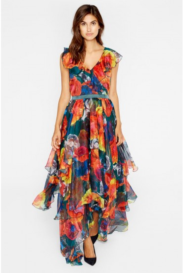 Gladys Occasion Maxi Dress in Floral Print