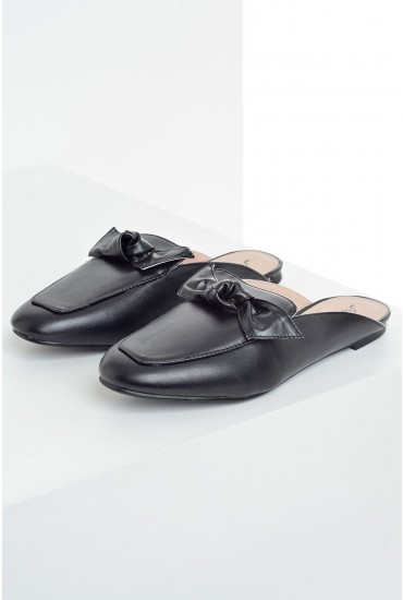 Kelly Knot Mules in Black