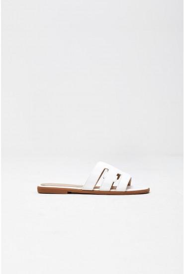 Lucila Flat Sandals in White