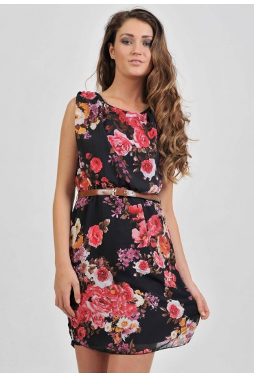 Rebecca Floral Chiffon Dress