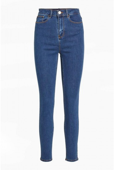 Commit High Rise Skinny Jeans in Medium Blue Denim