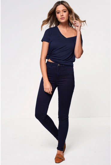 Royal Regular High Skinny Jeans in Dark Blue