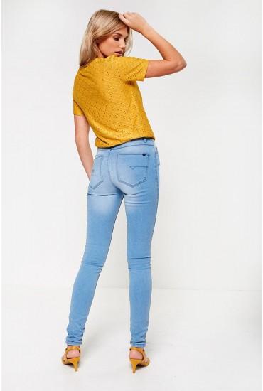 Extreme Regular High Waist Jeans in Light Blue Denim