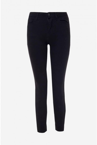 New High Waist Skinny Jeans in Black