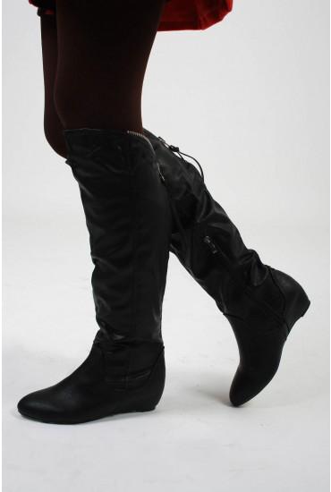 Livia Zip Up Knee Boot