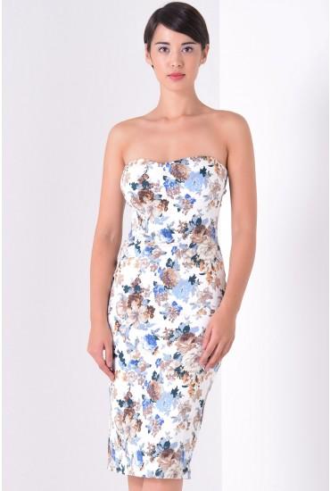 Bessie Floral Bandeau Midi Dress