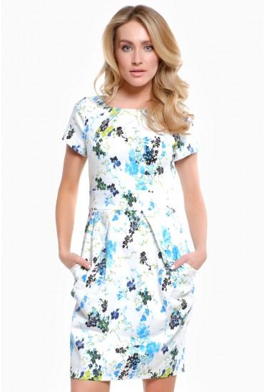 Chloe Floral Print Tulip Dress