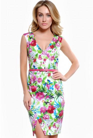 Kendra Floral Belted Dress