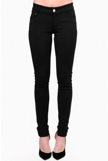 Claire Colour Jeggings in Black