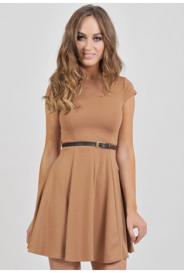 Faith Full Skirt Tailored Dress