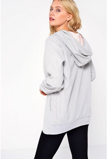Charlene Sports Hood Jacket in Grey