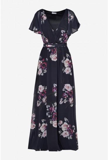 Jaden Occasion Maxi Dress in Black