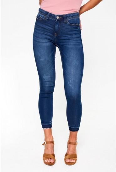 Jake Ankle Jeans in Medium Blue