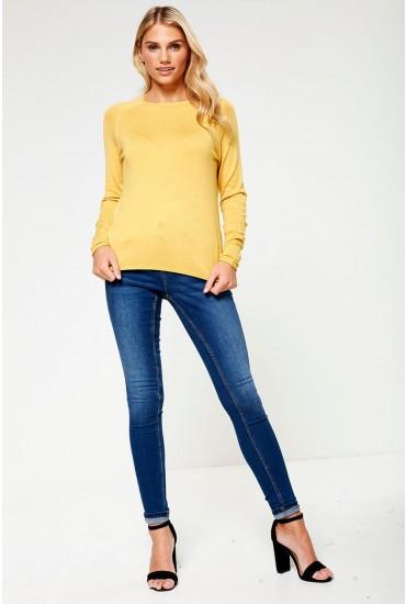 Jen Petite Shaper Skinny Jeans in Medium Blue Wash