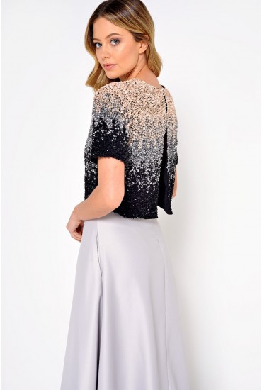 Jenny Mutli Way Sequin Top in Ombre