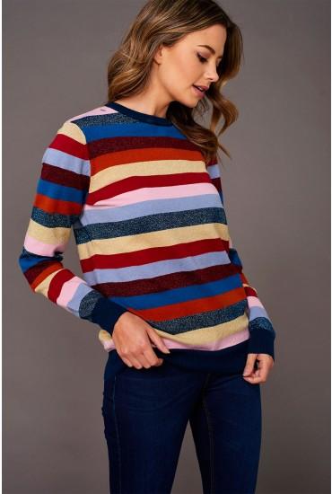 Poppy Stripe Luex Knit Sweater