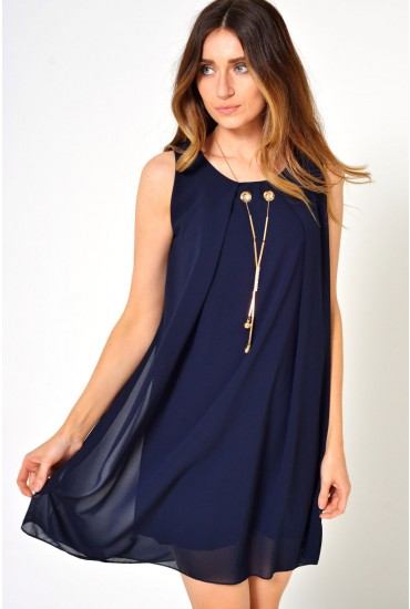 Patsy Necklace Tunic in Navy