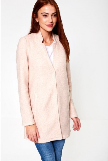Katrine Long Sleeve Jacket in Natural