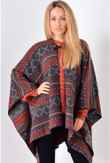 Mia Blanket Wrap in Red