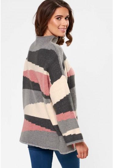 Totem Knit Top in Grey