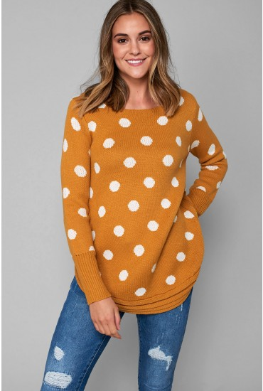 Leo Long Sleeve Jumper in Mustard